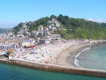 The popular family beach at Looe